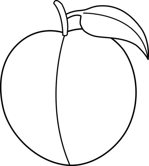 493x550 Peach Clipart Black And White