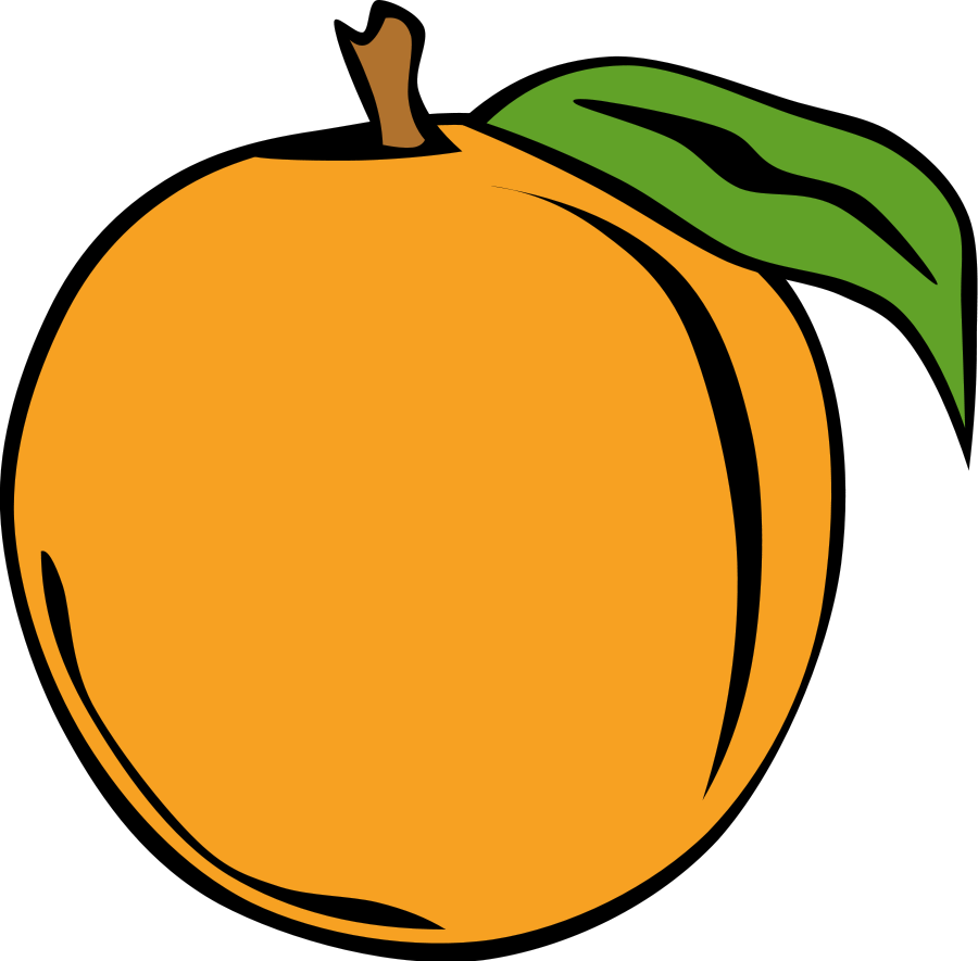 900x885 Peach Clipart Fruit