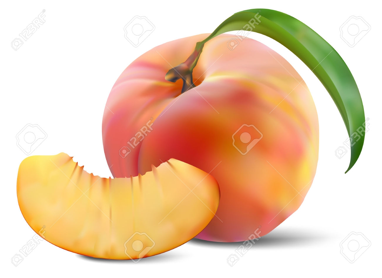 1300x945 Peach Clipart Peach Slice