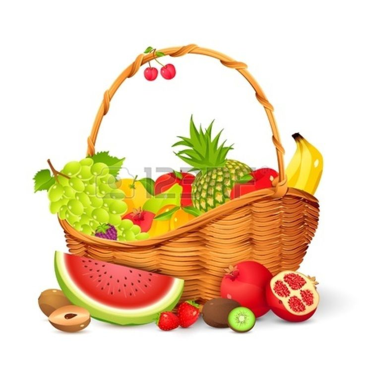 736x736 Watermelon Clipart Basket