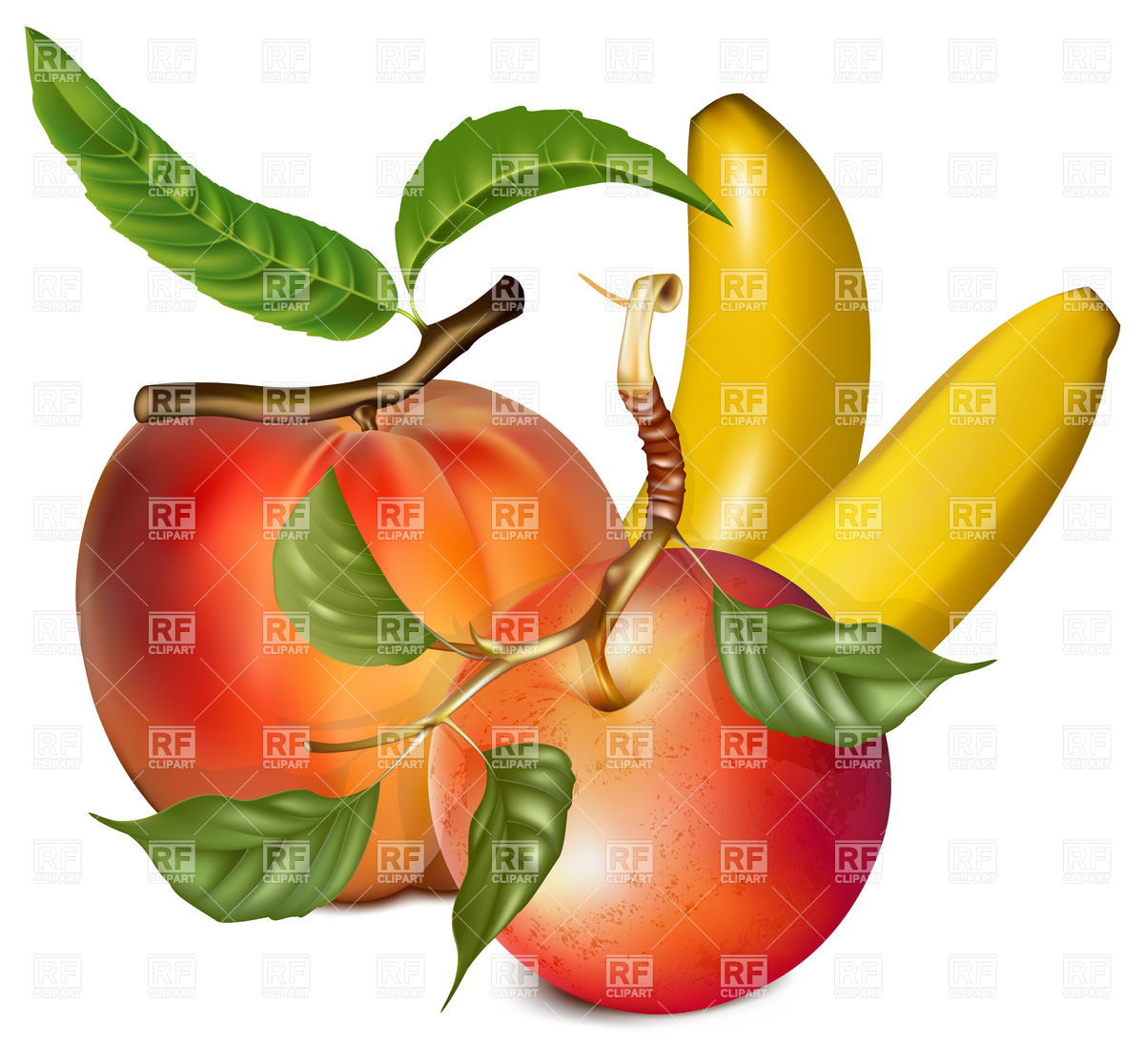 1200x1116 Banana Clipart Apples And Banana