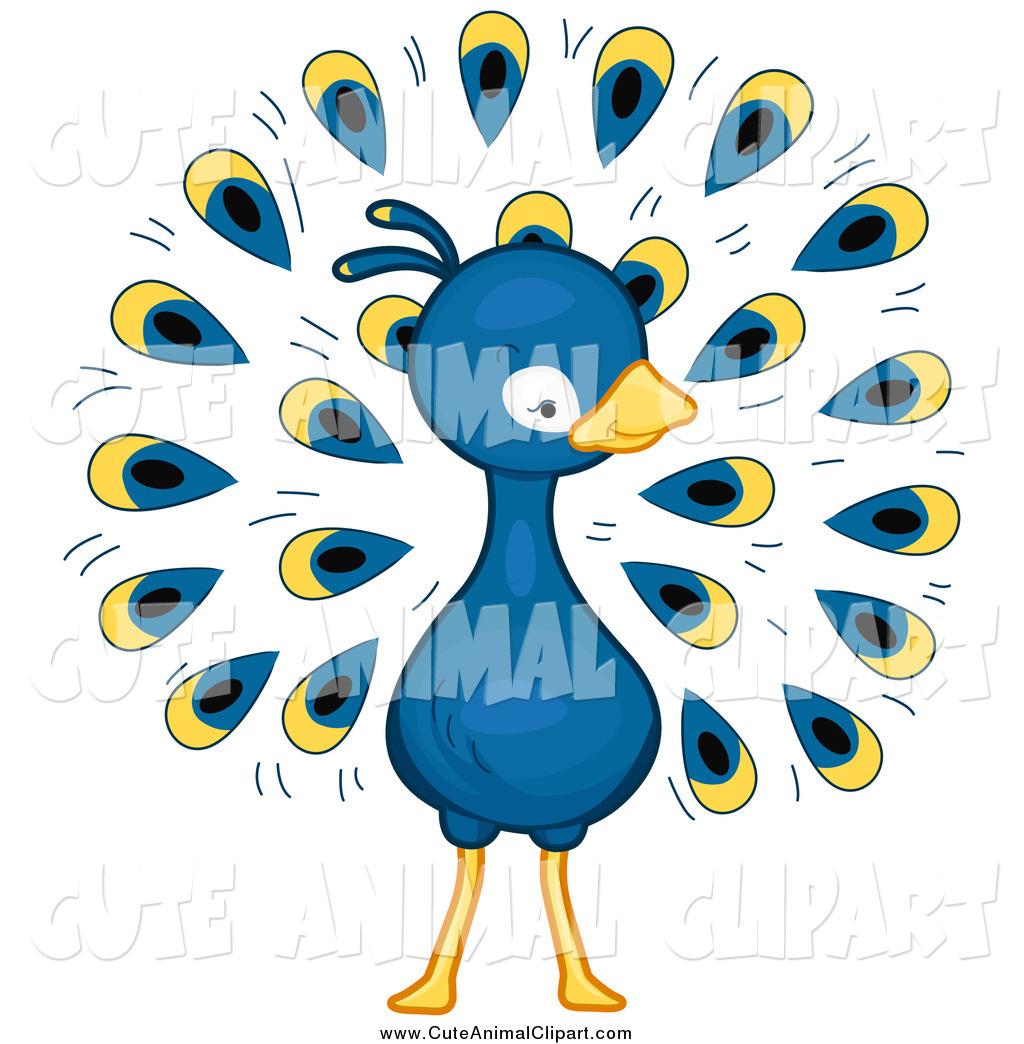 1024x1044 Vector Cartoon Clip Art Of A Cute Blue Peacock By Bnp Design