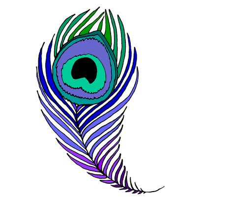 470x403 Peacock Clipart Quill