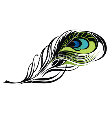 380x400 Feather Clipart Graphic Design