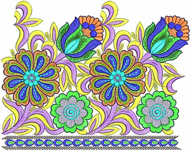 Peacock Feather Border Designs