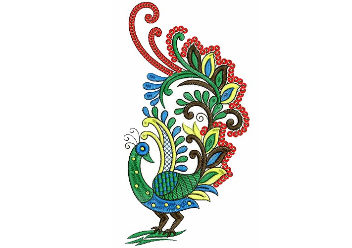 711x500 Peacock Embroidery Designs For Embroidery Machines January 2018