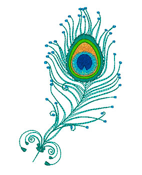 284x350 Peacock Clipart Embroidery
