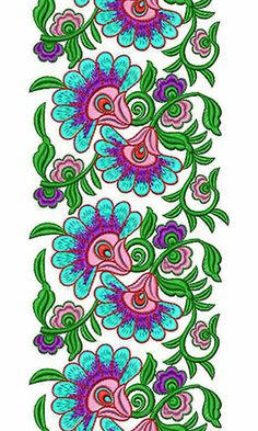 236x393 Awesome Cording With Sequins Lace Border Embroidery Design