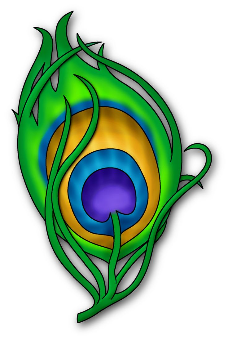 Peacock Feather Clipart