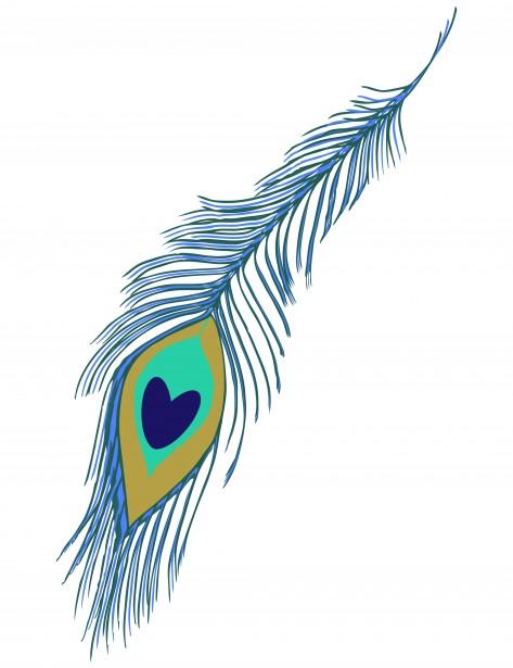 473x615 Peacock Feather Border Clip Art