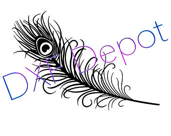 340x270 Peacock Feather Png Etsy
