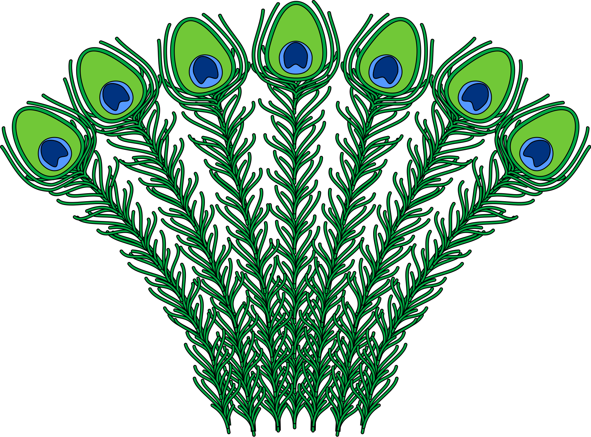 2000x1479 Fileheraldic Peacock Feathers.svg