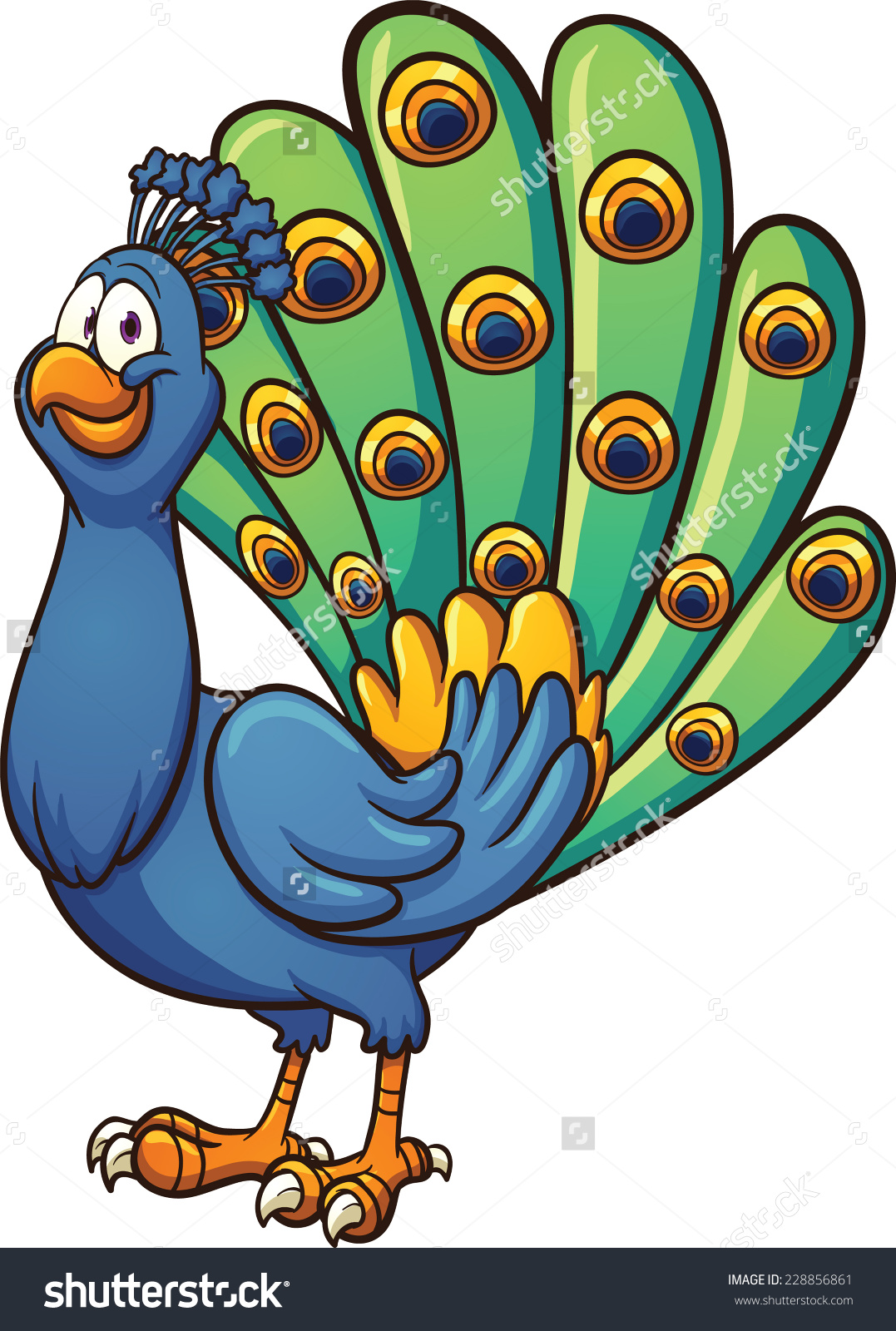 1077x1600 Animated Peacock Clipart
