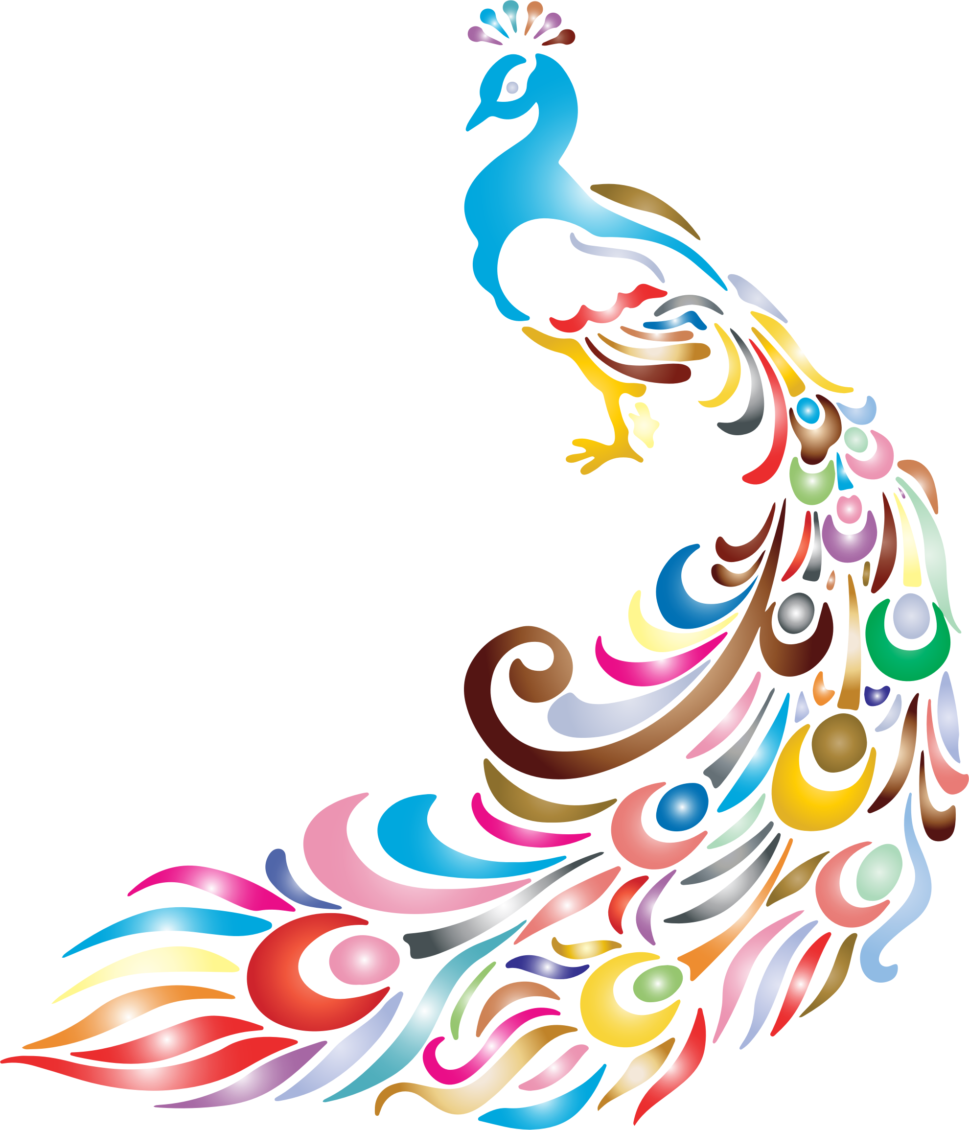1980x2308 Clipart Chromatic Peacock 2 No Background