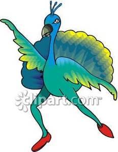 232x300 Dancing Peacock