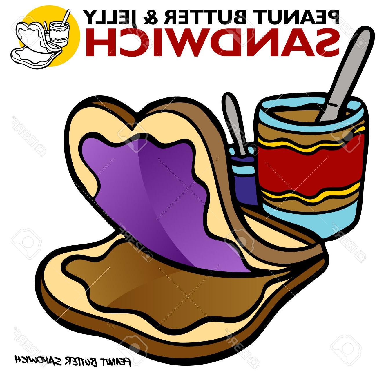 1300x1300 Best Hd An Image Of Peanut Butter Jelly Sandwich Stock Vector Photos