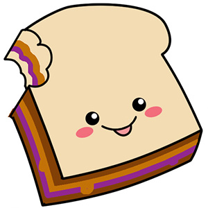 300x300 Sandwich Clipart Pb And J