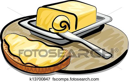 450x288 Clip Art Of Butter With Sandwich K13700847