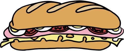 500x208 Free Sandwich Clipart, 1 Page Of Public Domain Clip Art