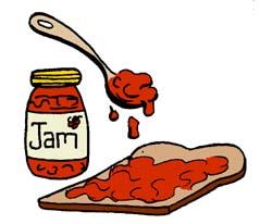 239x206 Jam Sandwich Clipart