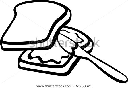 450x314 Peanut Butter Clipart Black And White