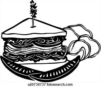 350x307 Sandwich Clip Art Black And White Cliparts