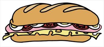 350x160 Sandwich Clipart