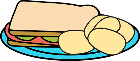 450x196 Sandwich And Chips Clip Art