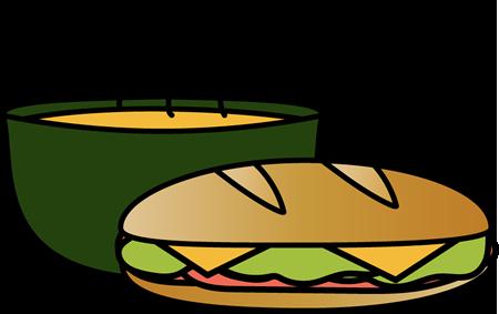 450x283 Sandwich With Bowl Of Soup Clip Art