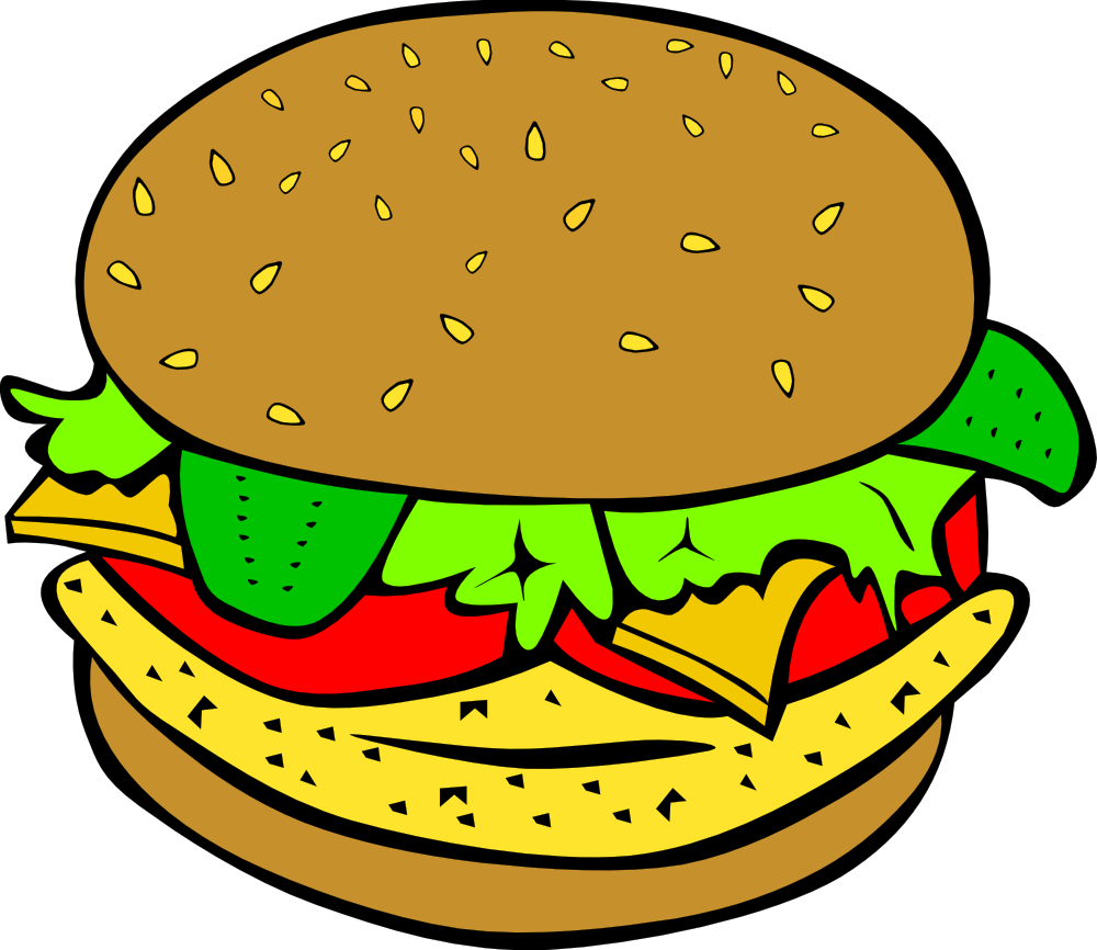 1000x866 Burger And Sandwich Clipart