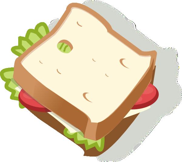 600x534 Vegetarian Sandwich Clip Art