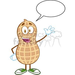 300x300 Royalty Free 6598 Royalty Free Clip Art Happy Peanut Cartoon