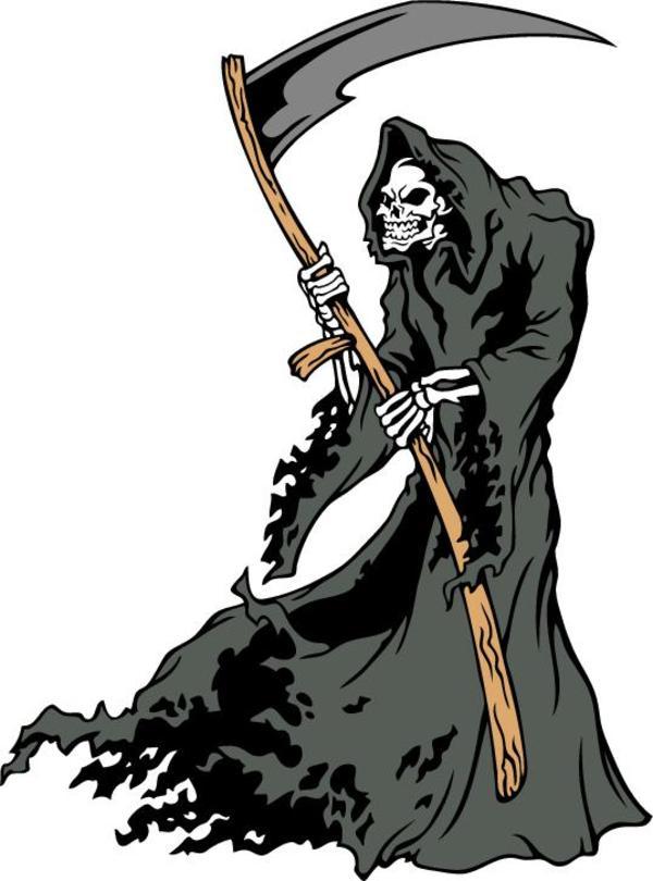 600x810 Grim Reaper Peanuts Clip Art Image