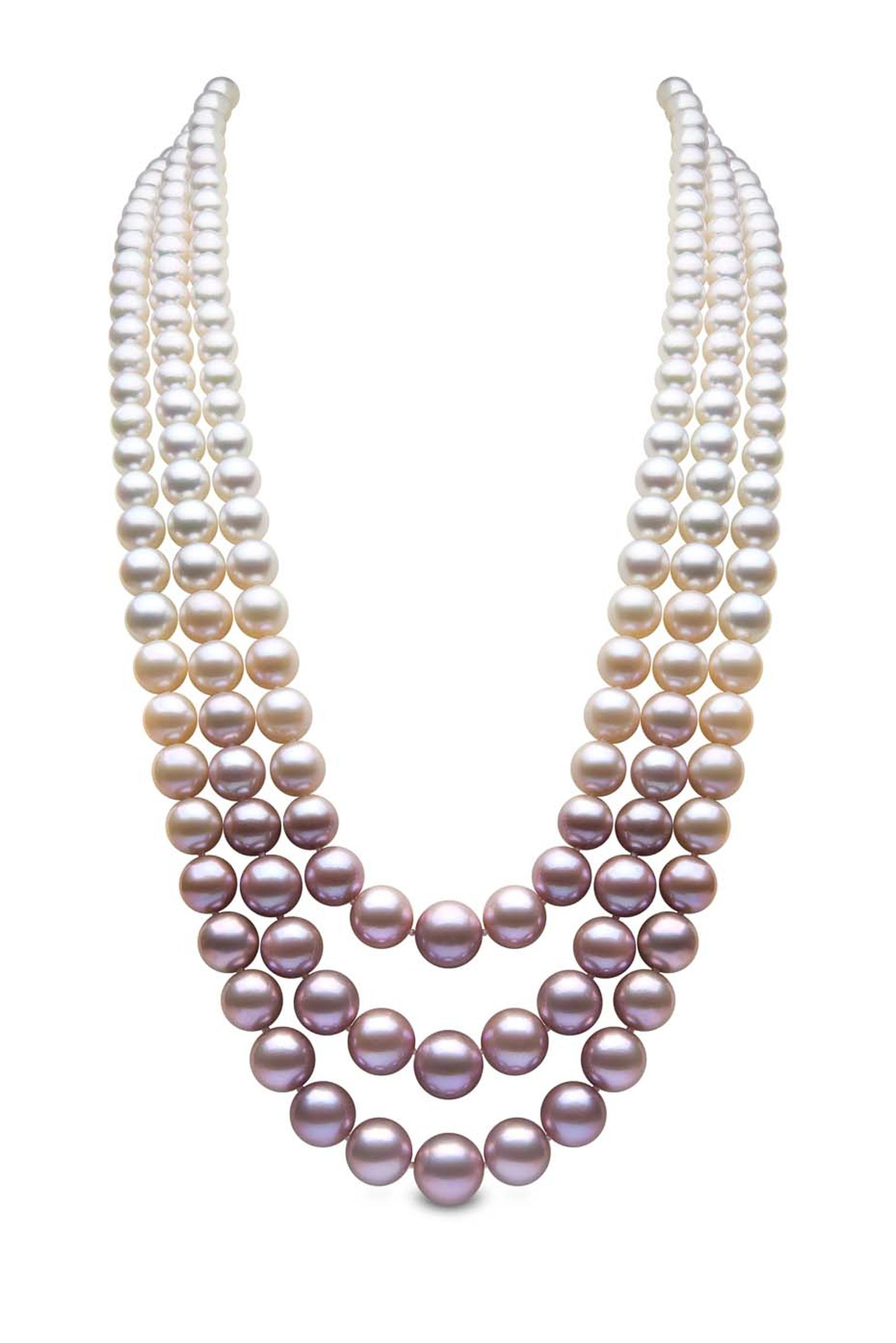 1536x2302 Blossom Rose Gold South Sea, Akoya And Freshwater Pearl Necklace