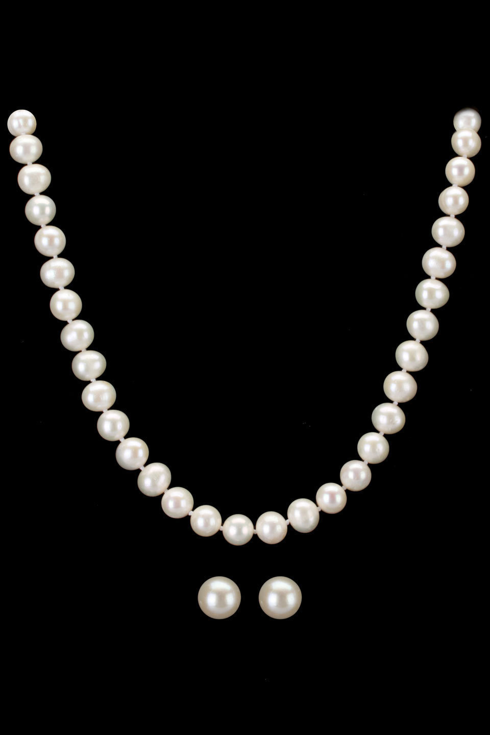 960x1440 Classic Freshwater Pearl Necklace Amp Earrings In White. I Would
