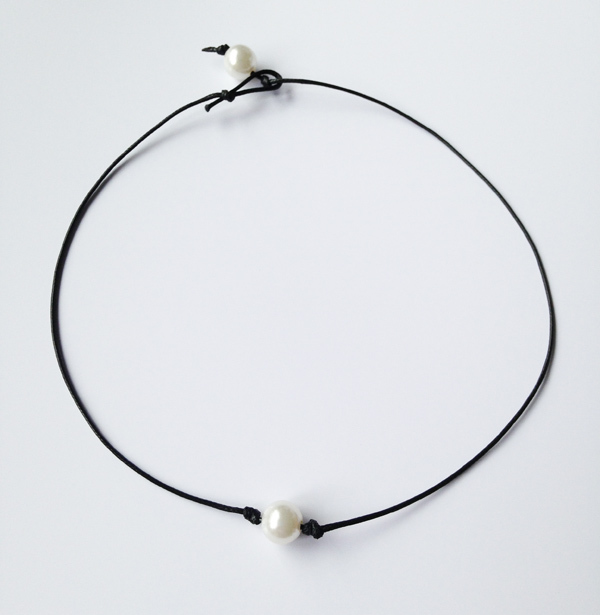 600x615 Drop Shipping Chic Single Cultured Pearl Necklace Pearl Choker