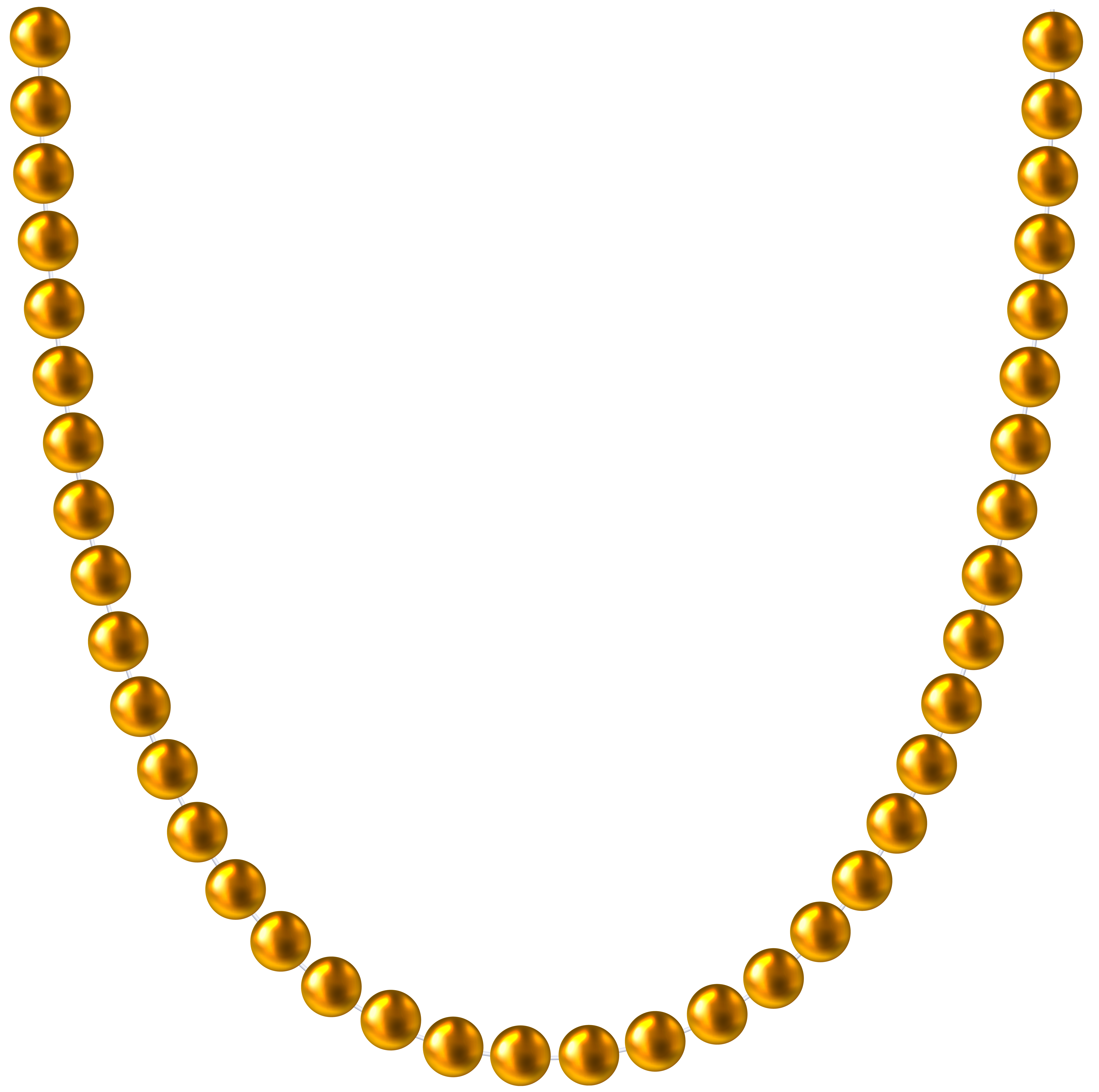 8000x7947 Necklace Clipart Bead Necklace