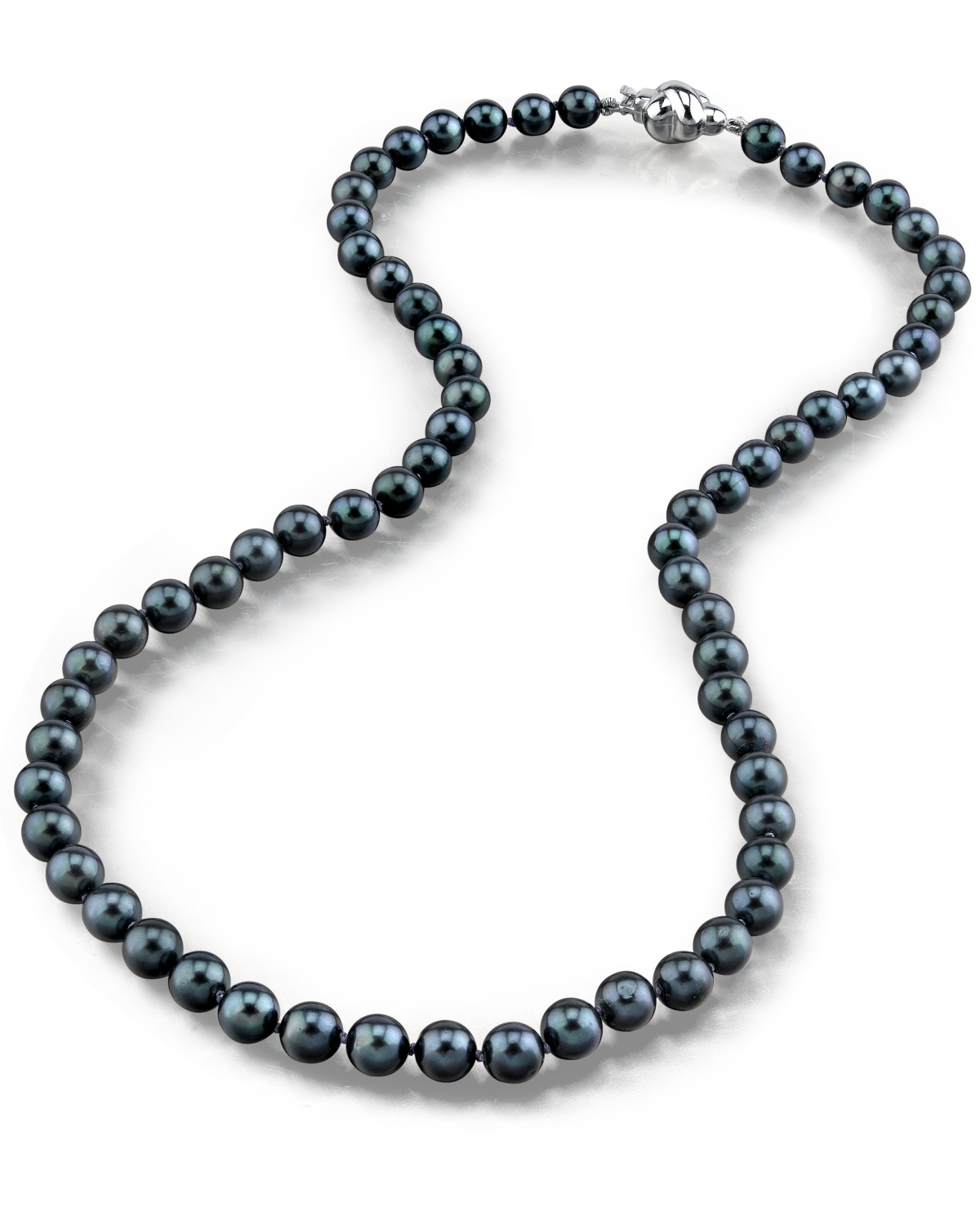 1200x1500 5.0 5.5mm Japanese Akoya Black Pearl Necklace