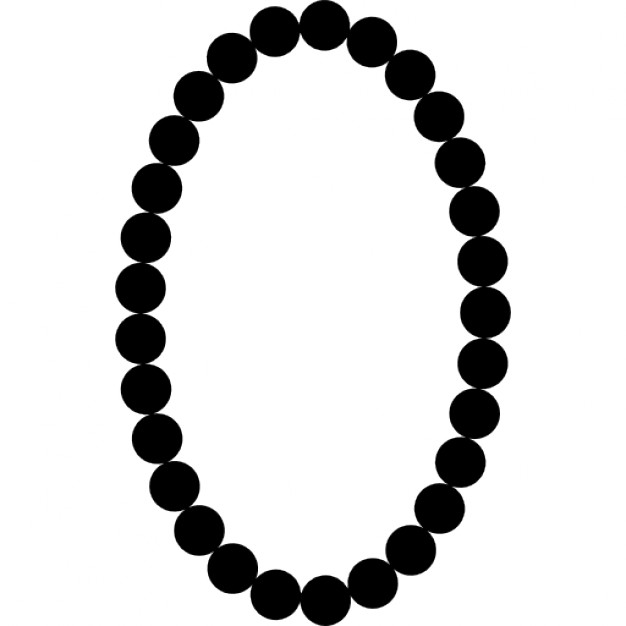 626x626 Pearls Necklace Oval Frame Shape Icons Free Download