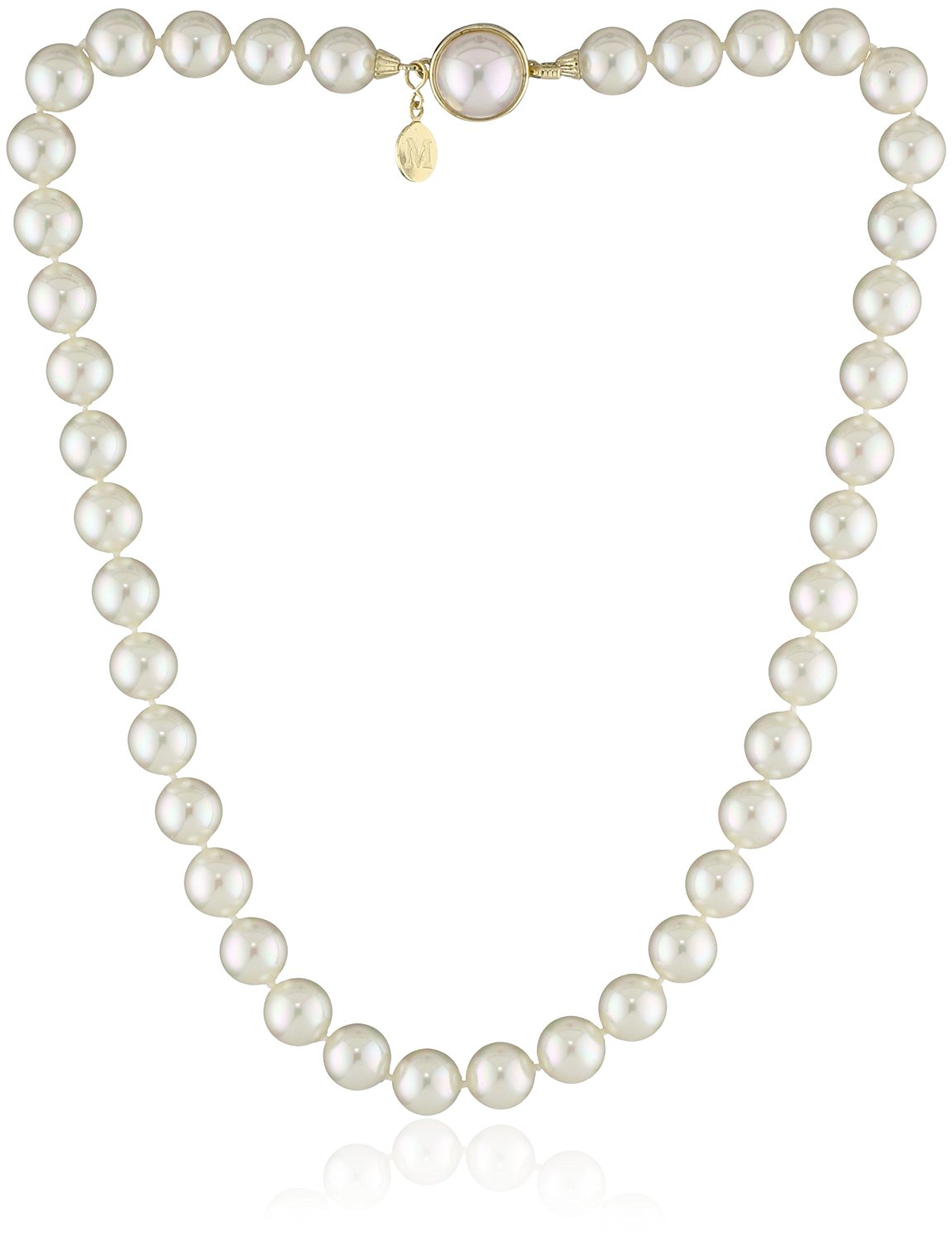 1151x1500 Majorica Single Row White Simulated Pearl (10mm