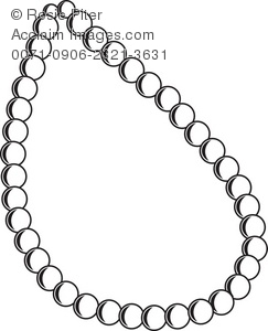 243x300 Art Illustration Of The Outline Of A Pearl Necklace