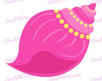 340x270 Shell Clipart Pink Seashell