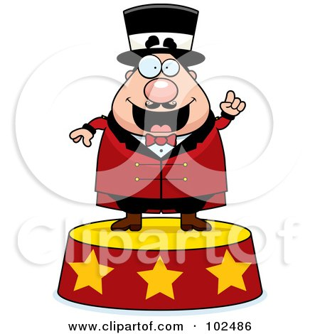450x470 Royalty Free (Rf) Clipart Illustration Of Chubby Circus Man On