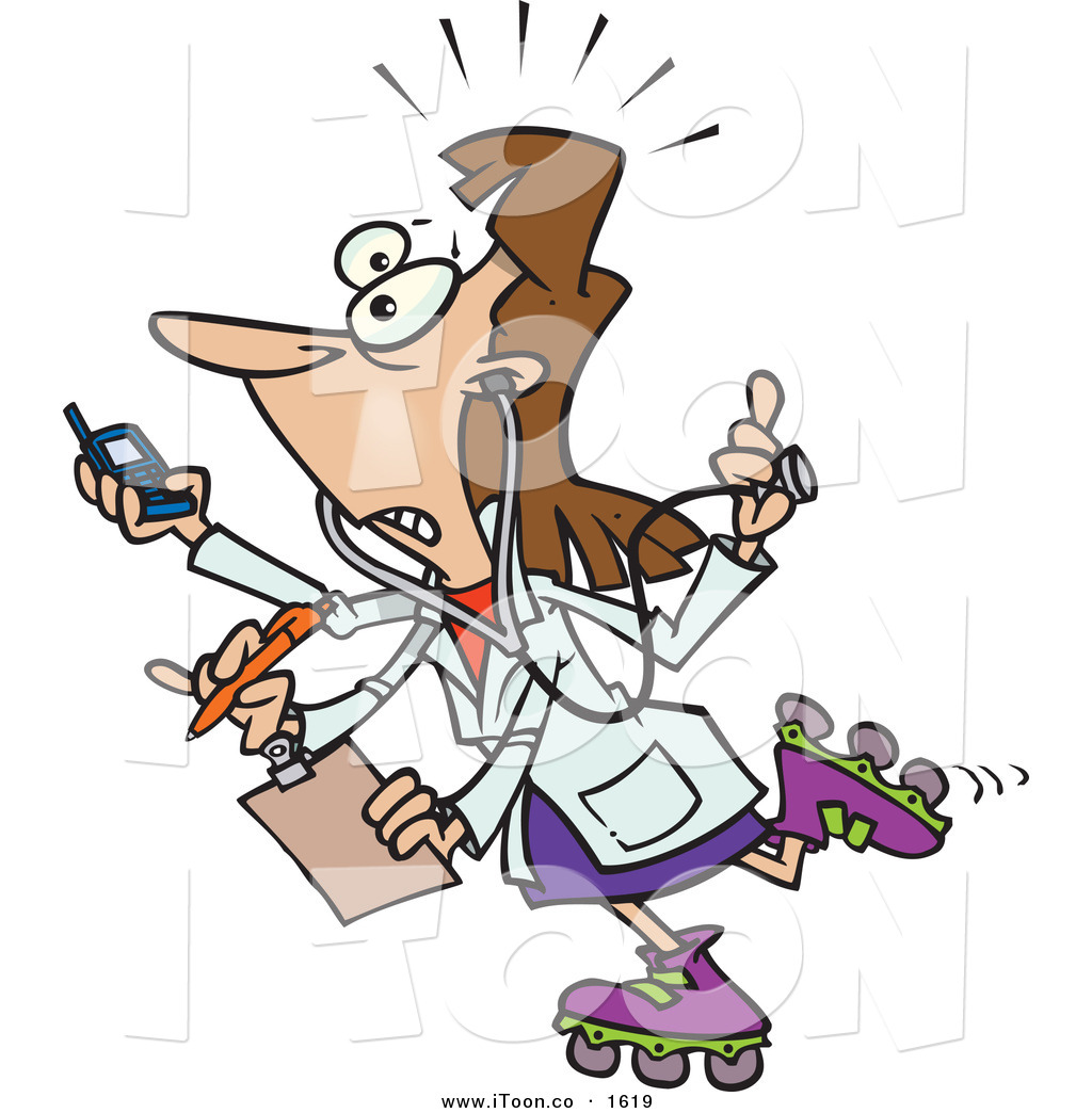 1024x1044 Nurse Clipart Multitasking
