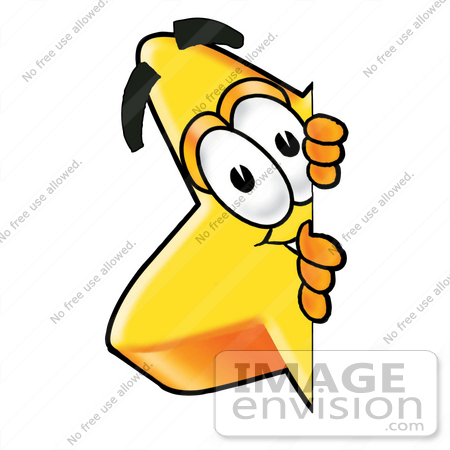 450x450 Clip Art Graphic Of A Yellow Star Cartoon Character Peeking Around