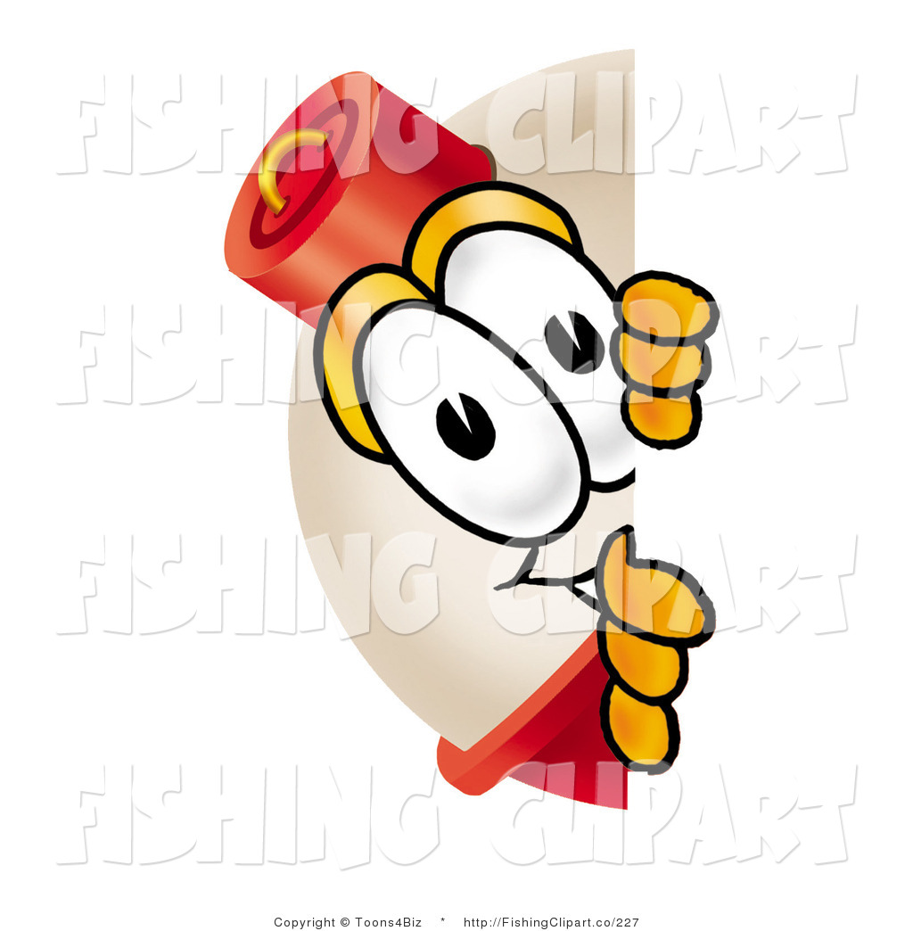 1024x1044 Clip Art Of A Shy Fishing Bobber Mascot Cartoon Character Peeking