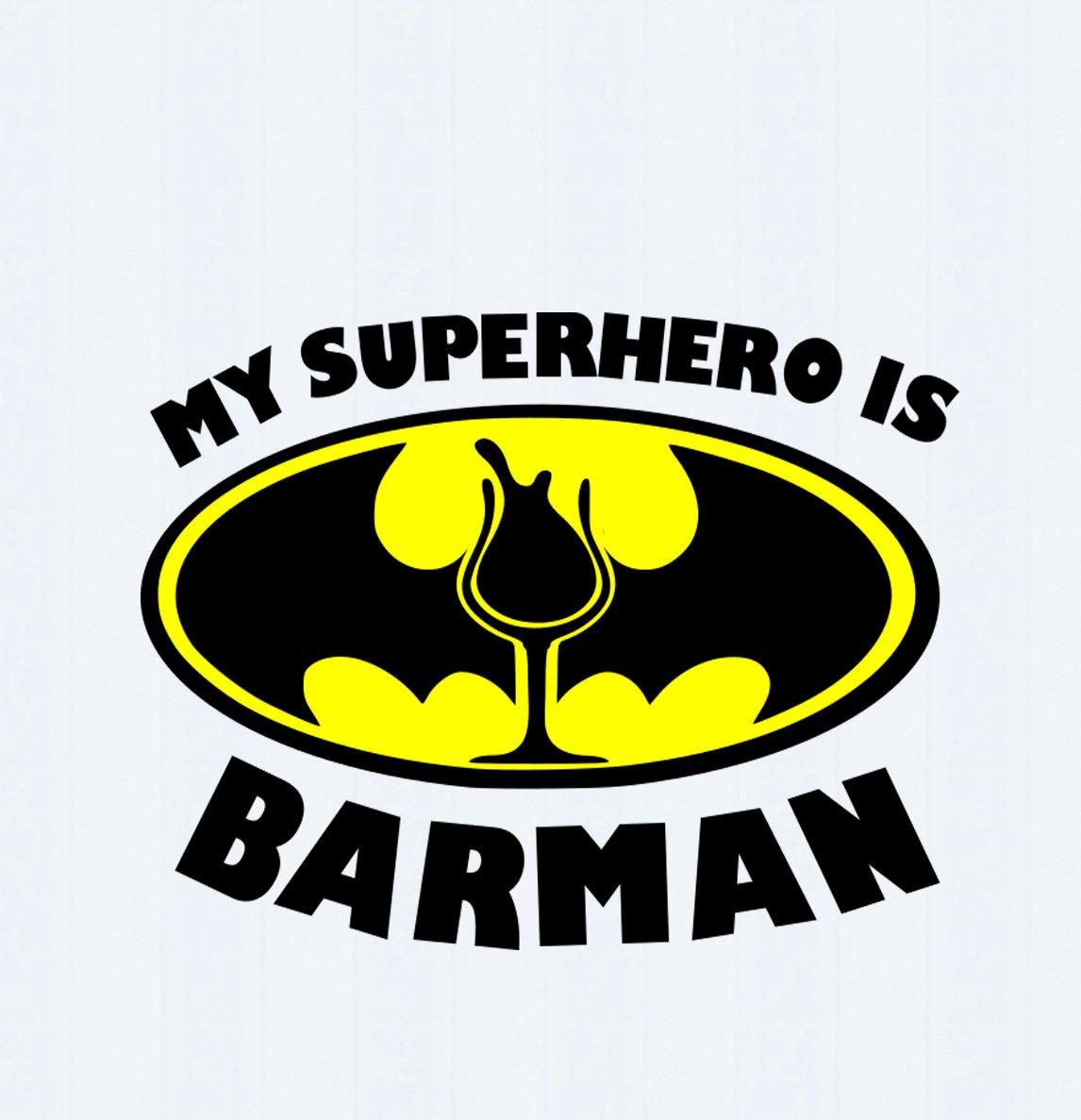 1146x1187 My Superhero Is Barman Svg,eps, Ai, Jpeg, Png Dxf,silhouette