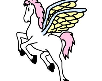 340x270 Pegasus Clipart Etsy