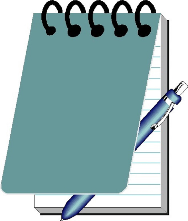 659x777 Notepad Pen And Paper Clip Art Image