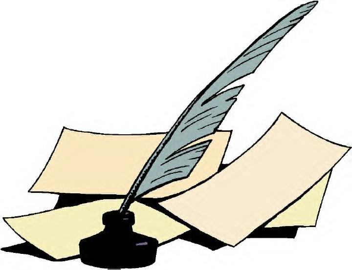 720x553 Quill And Paper Clipart